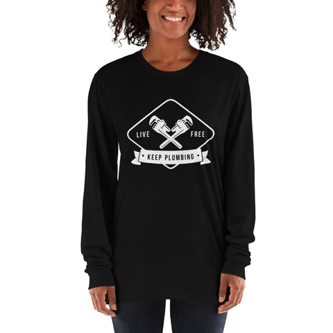 Image of Keep Plumbing - American Apparel 2007 Unisex Fine Jersey Long Sleeve T-Shirt
