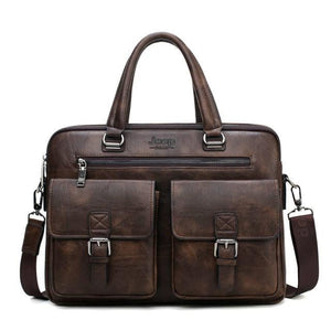Porte-documents en cuir pour homme <br> Modèle Professeur Marron - Porte-documents cuir