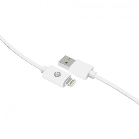 Iessentials Braided Lightning Usb Cable, 10ft (white) IENBC10LWT