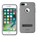 Reiko iPhone 8 Plus/ 7 Plus Rugged Texture TPU Protective Cover In Gray