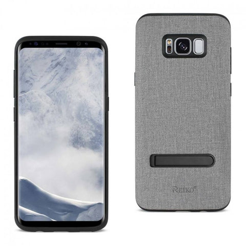 REIKO SAMSUNG GALAXY S8 EDGE/ S8 PLUS DENIM TEXTURE TPU PROTECTOR COVER IN GRAY