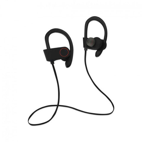 UNIVERSAL SPORT BLUETOOTH HEADPHONES WITH HD SOUND QUALITY AND SWEAT PROOF IN BLACK