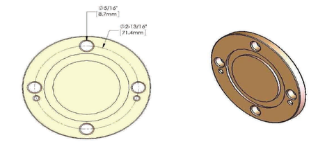 "1-5/8"" Cover plate"