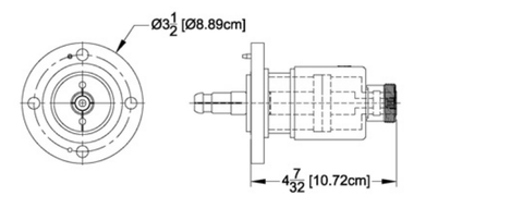"Reducer 1-5/8"" Female Flange to DIN-716 Female"