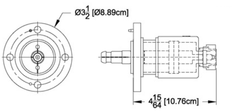 "Reducer 1-5/8"" Female Flange to DIN-716 Male"