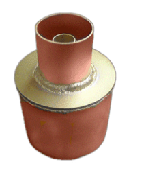 "Reducer 3-1/8"" Female to 1-5/8"" Female Unflanged without Couplings"