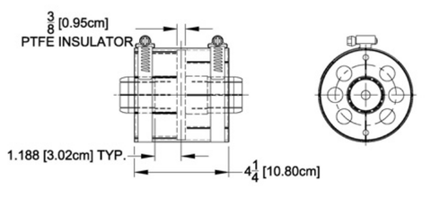 "4-1/16"" Unpressurized Coupling with Inner Conductor"