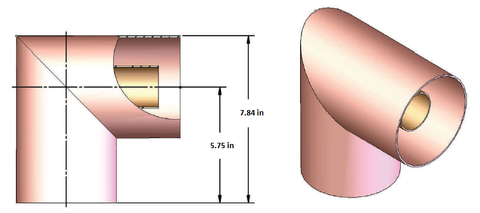 "4-1/16"" 90 Degree Elbow, Unflanged"