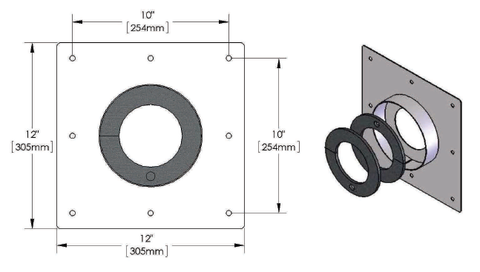 "4-1/16"" Wall Anchor Plate"