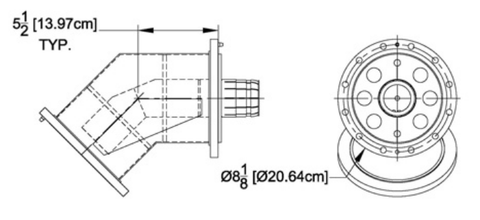 "6-1/8"" 45° Elbow, Flanged"