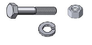 "1-5/8"" Flange Hardware Set"