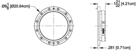 "6-1/8"" Field Flange (clamp type)"