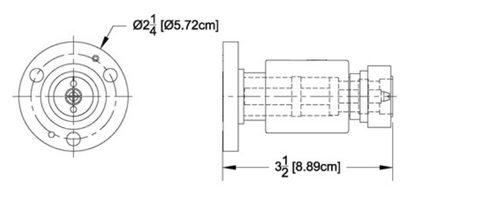 "Reducer 7/8"" Female Flange to DIN-716 Male"