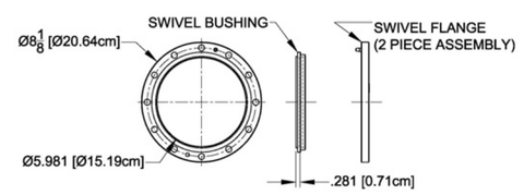 "6-1/8"" Swivel Flange (2 Part Weld On)"