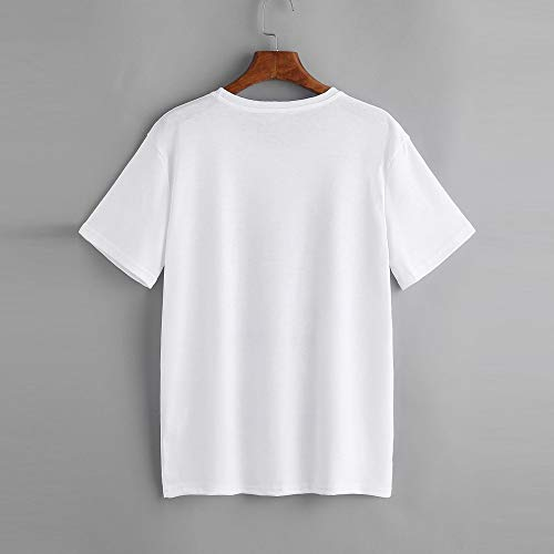 Women Fashion Letter Print Short Sleeve O Neck Women T Shirt Top White