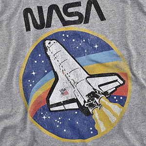 NASA Retro Vintage Space Shuttle T Shirt & Stickers (XX-Large) Athletic Heather