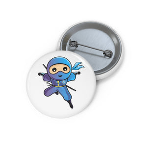 Super Brave Ninja Custom Pin Buttons