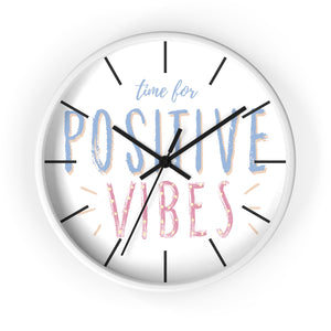 Time for Positive Vibes Chloe Temtchine Wall Clock