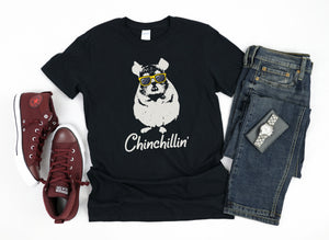 Chinchillin' Cute Funny Chinchilla - Chloe Temtchine Apparel - T-Shirt, Tank Top, V-Neck, Long Sleeve, Sweatshirt, Hoodie, Men & Women