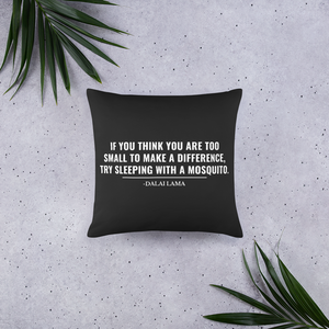 Motivational Inspirational Dalai Lama Quote Pillow - Chloe Temtchine Throw Accent Pillow for Home Decor, Couch, or Bed