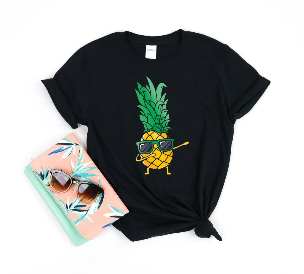 Groovy Pineapple Cute Funny Dancing Pineapple - Chloe Temtchine Apparel - T-Shirt, Tank Top, V-Neck, Long Sleeve, Sweatshirt, Hoodie, Men & Women