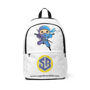 Super Brave Kids Ninja Unisex Fabric Backpack