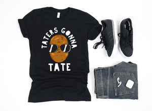 Taters Gonna Tate Cute Funny Potato with Shades - Chloe Temtchine Apparel - T-Shirt, Tank Top, V-Neck, Long Sleeve, Sweatshirt, Hoodie, Men & Women