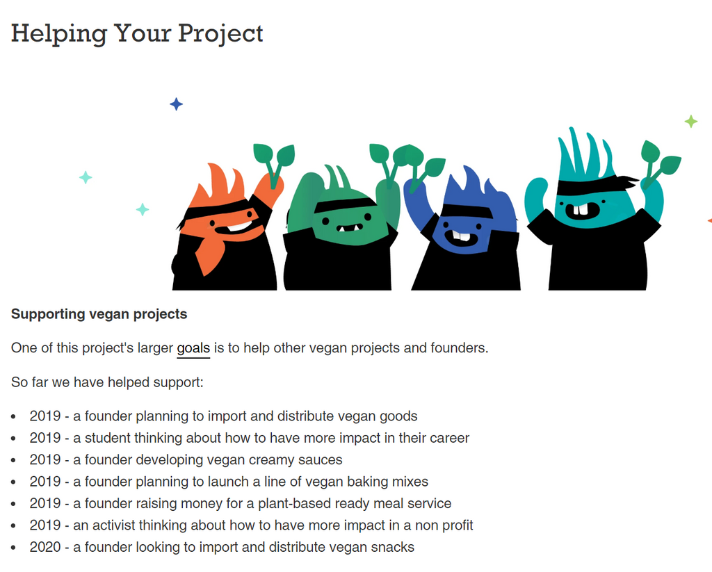 Helping Your Vegan Project
