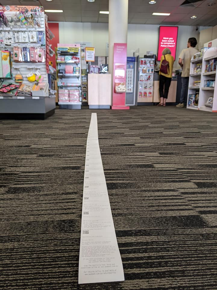 World's Longest Receipt?