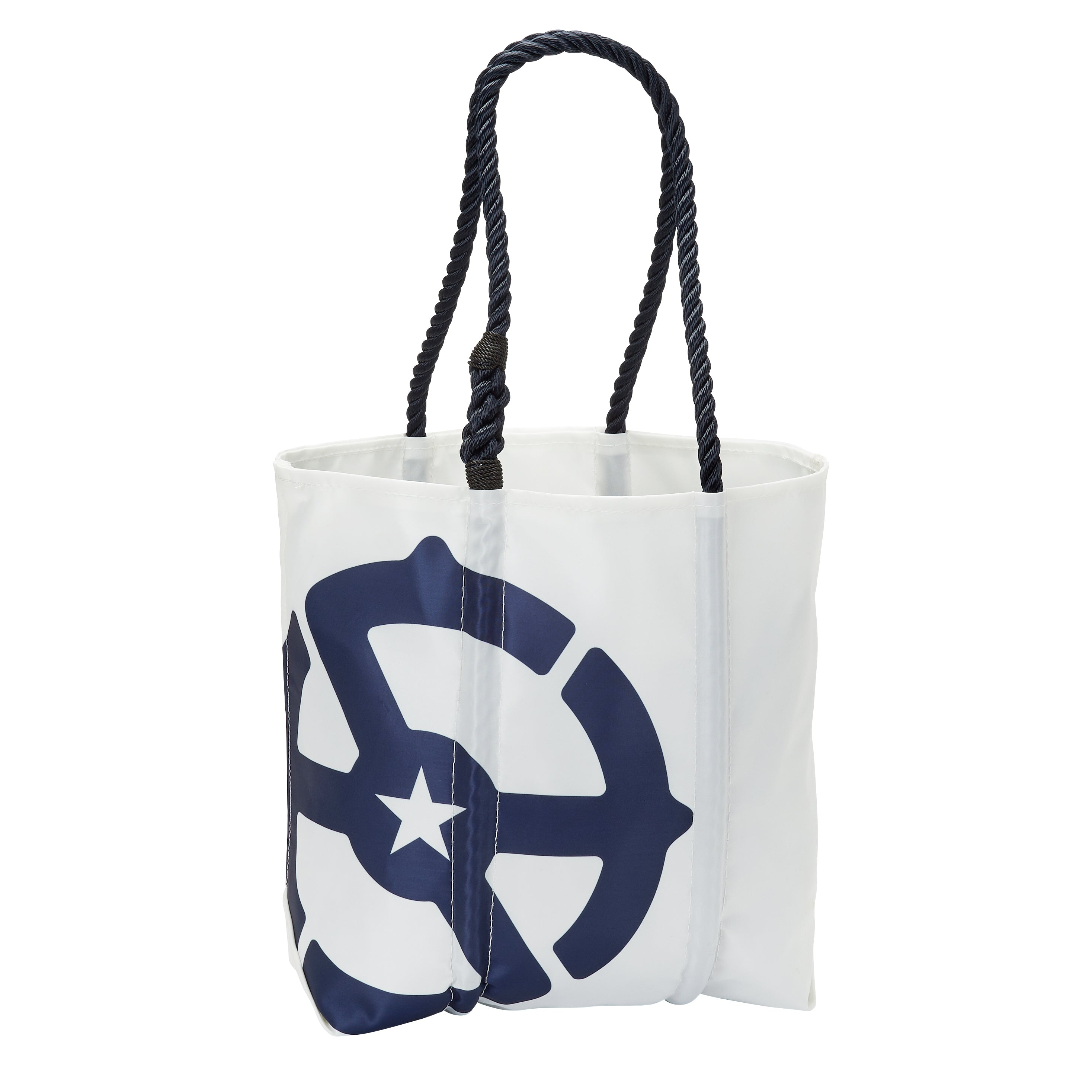 White Medium Recycled Sail Tote by Sea Bags