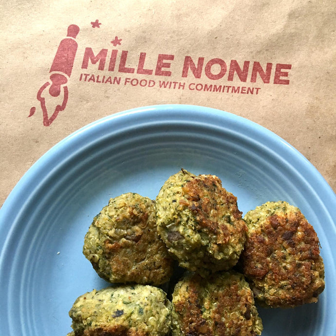 Mushrooms Spinach & Quinoa balls