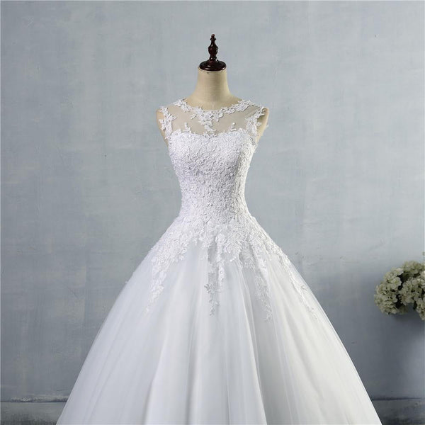 lace White Ivory A-Line Wedding Dresses for bride Dress gown Vintage plus size - TRIPLE AAA Fashion Collection