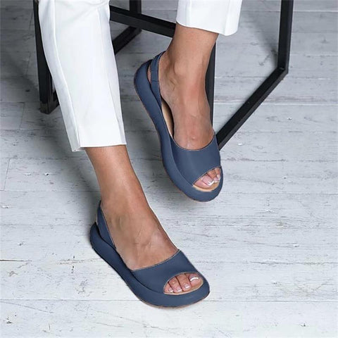 Summer Women Sandals Fish Mouth Elegant  Ladies Shoes Slip On Solid  Female Single Shoes Casual Soft Office Flats Dropshipping - TRIPLE AAA Fashion Collection