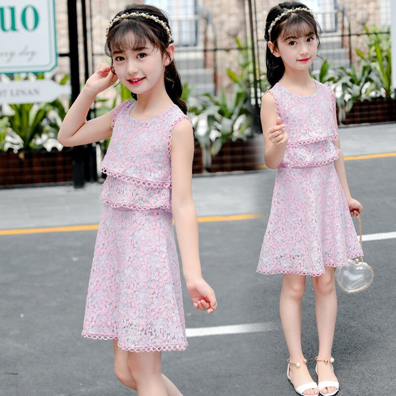 Toddler Kid Girls Infant Striped Strap Zip Dress Clothes Princess Casual Dresses