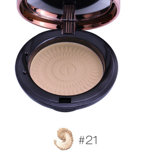 O.TWO.O Natural Make Up Face Powder Foundations Oil-control Brighten Concealer Whitening Pressed Powder With Puff - TRIPLE AAA Fashion Collection
