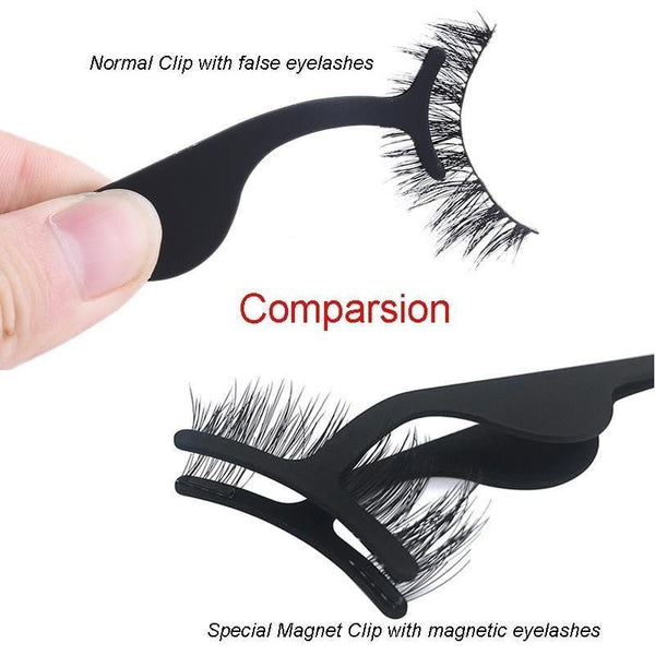 False Eyelash Tweezers Fake Eye Lash Applicator Eyelash Extension Curler Nipper Auxiliary Clip Clamp Makeup Forceps Tools - TRIPLE AAA Fashion Collection
