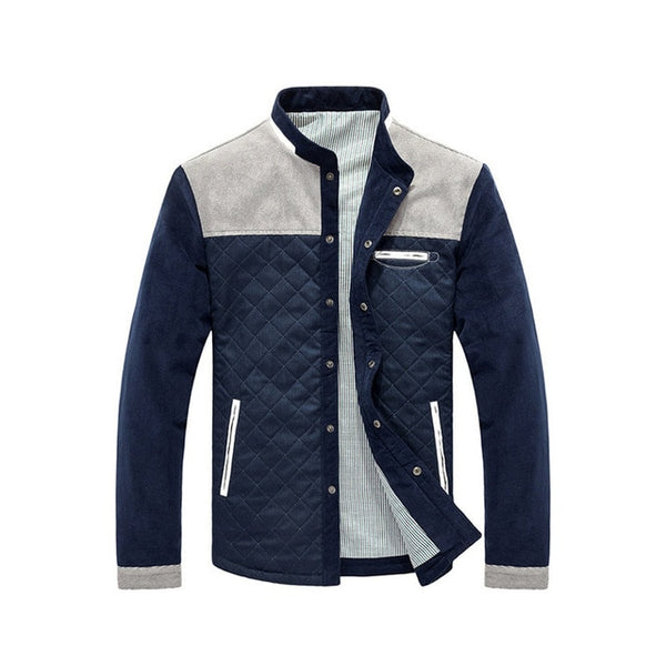 Spring Autumn Men Patchwork Jacket Coat - TRIPLE AAA Fashion Collection