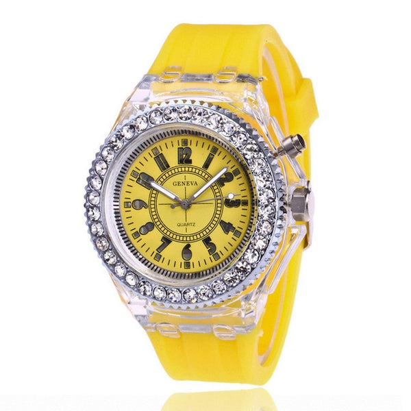 Led Flash Luminous Watch Personality Trends Students Lovers Jellies Woman Men's Watches - TRIPLE AAA Fashion Collection