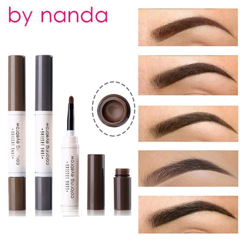 BY NANDA Tattoo Dye Cream Eyebrow Pencil Tint Waterproof with Brush Cosmetic Long Lasting Henna Eye Brow Maquiage - TRIPLE AAA Fashion Collection