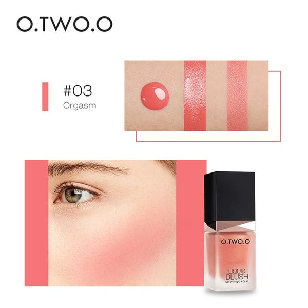 O.TWO.O Makeup Face Liquid Blusher Sleek Silky Paleta De Blush Color Lasts Long 4 Color Natural Cheek Blush Face Contour Make Up - TRIPLE AAA Fashion Collection