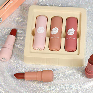 Fashion Lipstick Gold Leaf Jelly Temperature-changed Lip Balm Moisturizer Lips Beauty Makeup Brand HengFang 3 Colors
