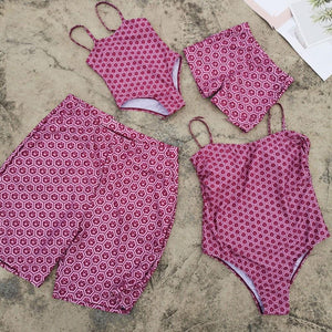 Family Swimwear Beach Match Swimsuit Mom And Daughter One-piece Swimsuit - TRIPLE AAA Fashion Collection
