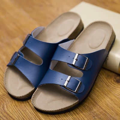 Slippers Flip Flops Summer Beach Cork Shoes Slides Girls Flats Sandals Casual Shoes - TRIPLE AAA Fashion Collection