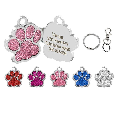 Customized Engraved Dog Tags Collar Tag - TRIPLE AAA Fashion Collection