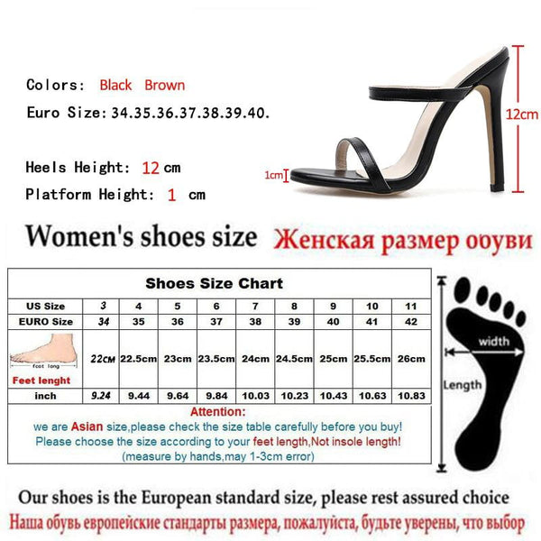 Arrival Gladiator Slippers Sandals Woman Open Toe Rome Black Brown High Heel Shoes Women Shoes - TRIPLE AAA Fashion Collection