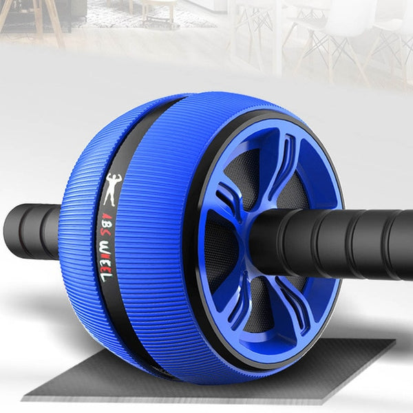 Silent TPR Abdominal Wheel Roller Trainer Fitness Equipment Gym Home Exercise Body Building Ab roller Belly Core Trainer - TRIPLE AAA Fashion Collection
