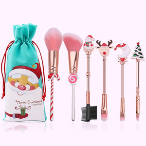 2019 Christmas Makeup Brushes Set Soft Synthetic Hair Cosmetic Eyeliner Foundation Powder Blending Eye Shadow Makeup Tools - TRIPLE AAA Fashion Collection