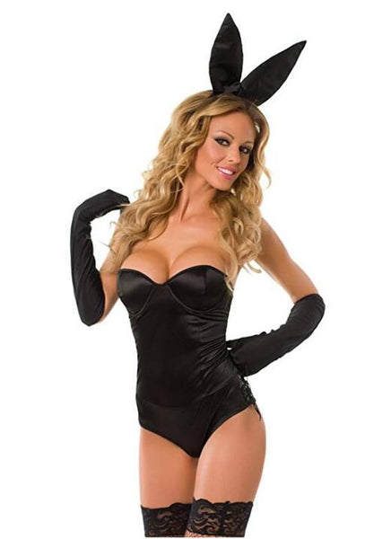 Velvet Kitten Sexy Black Classic Bunny Costume Bunny Bedroom Costume - TRIPLE AAA Fashion Collection