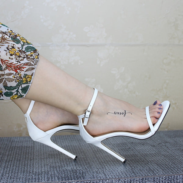 Sexy Women Red Wedding Shoes Peep Toe Stiletto High Heels Shoes - TRIPLE AAA Fashion Collection
