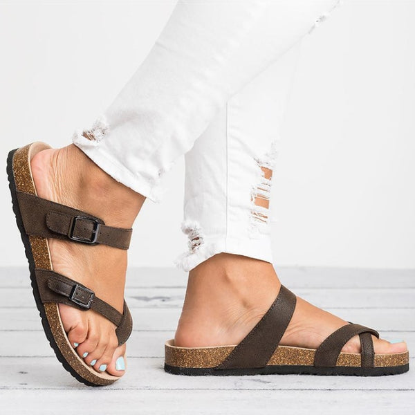 Women Sandals Rome Style Summer Sandals Flip Flops Plus Size 35 43 Flat Sandals Beach Summer Zapatos Mujer Casual Shoes - TRIPLE AAA Fashion Collection